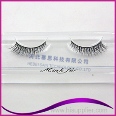 natural long false eyelashes 100% real strip mink fur eyelash extension