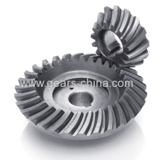 Heavy duty alloy steel electric grinding spiral bevel gear