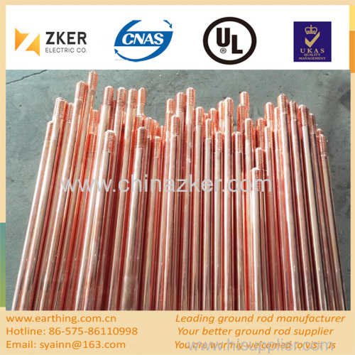 copper weld threaded grounding rod