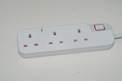 UK power strip with 4 usb charger port outlet uk extension socket