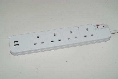 Uk 110v сетевой фильтр 2 usb power strip