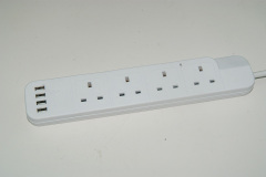 British Standard Extension Power Socket Outlet with 4 USB