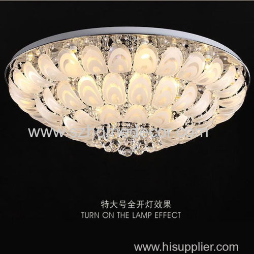 Rectangle modern crystal lighting hanging lights with clear crystal