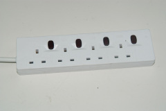 UK power strip with switch and USB