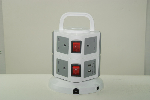 6 way UK type British extension power strip with 13A plug