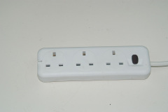 UK power strip 16a 250v 3 outlet