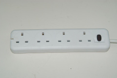UK individual switch power strip