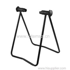 unfold/fold/fix the two legs Foldable Bicycle Stand