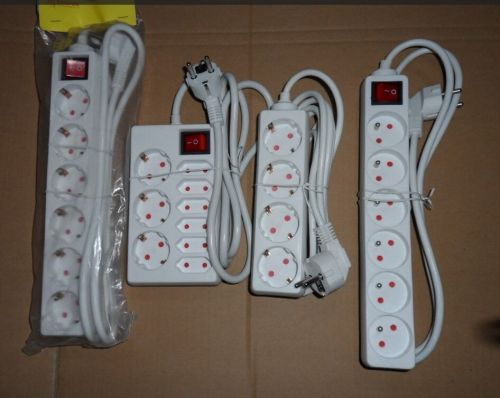 Germany power socket USB Power Strip Surge Protector With multi usb charger