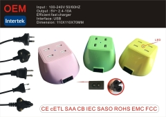 Cetl multi port usb charger 4 usb 5v 10a