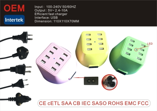 High Quality 8 Port USB Charger Socket