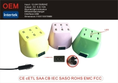 High Quality IEC 13A Socket with USB Charger 6 ports