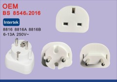BS8546 EU to UK adapter