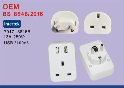 Низкая цена bs8546 eu travel adapter