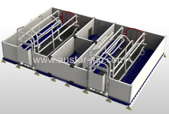 Best Sale Double Farrowing Crates For Pigs With PVC fence panel