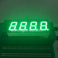 "4 digit 0.4"" common anode pure green 7 segment led display for instrument panel"