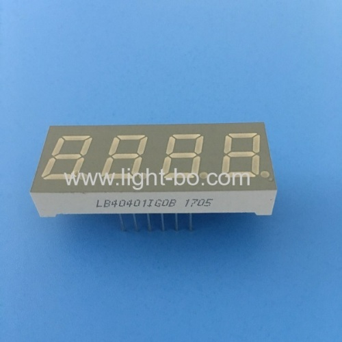4 digit 0.4  common anode pure green 7 segment led display for instrument panel
