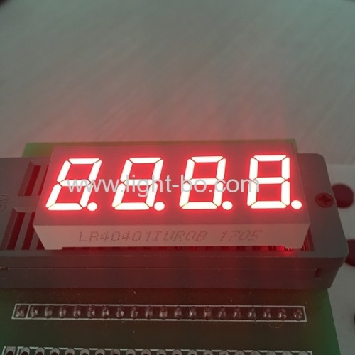 4 Digit 0.4 Common Cathode Amber 7 Segment LED Numeric Displays for instrument panel