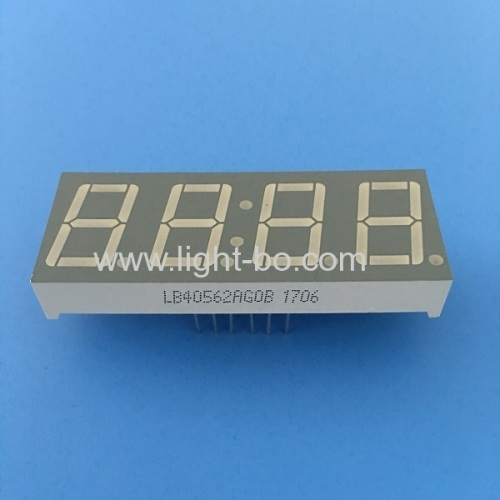 Pure Green 0.56  4 digit 7 segment led clock display common anode for digital timer