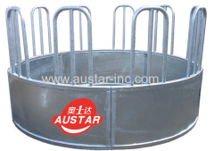 Hot Dipped Galvanized Round Cattle / Horse Hay Bale Feeder Cow Ring Feeder For Sale