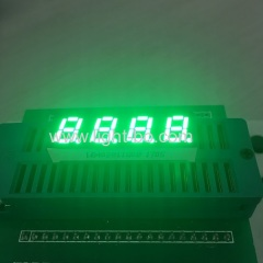 "Pure green 0.28"" 4 digit 7 segment led display common anode for temperature humidity control"