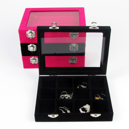Jewelry Collection Bracelet Necklace Ring Earring Display Box Jewellery Case