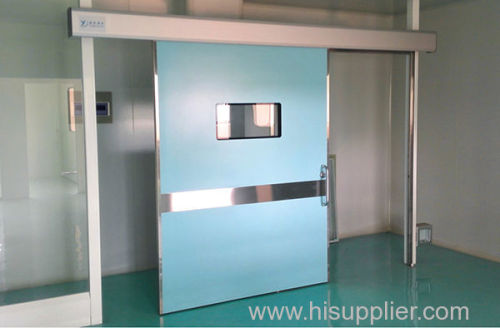 Silding door for cleanroom