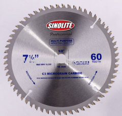 "7-1/4"" (184mm)-60T Circular Saw Blade Combination Teeth for Industrial Cutting"