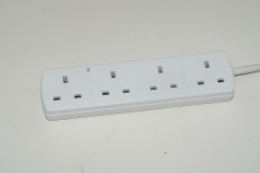 Power strip uk 4 gang electrical extension socket