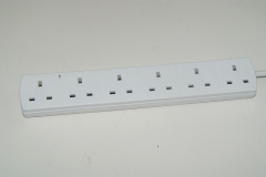 Universal 5 ways one switch electric extension uk socket with power cord