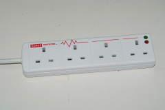 4 way UK electrical extension socket with individual switch