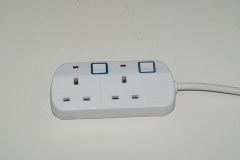UK Power strip 2USB 5V 2.4A 3M Electrical Extension