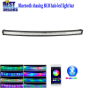 "Curved 42"" 240W Chasing RGB Halo LED Light Bar with Bluetooth App& Wiring Harness Control for Rock lights kit Off Road l"
