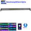 "Nicoko Straight 50"" 288W Chasing RGB Halo LED Light Bar Led lights by Bluetooth for ATV SUV Pickup Truck 4x4 Offroad LED"