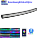 Nicoko Curved 52inch 300W Chasing RGB Halo LED Light Bar Combo Lamp with Bluetooth App control for Truck cars suv ATV