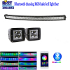 "Nicoko 32""180W Curved Bluetooth APP Controlled LED work Light Bar +Led work light with RGB chasing for Tractor Truck In"