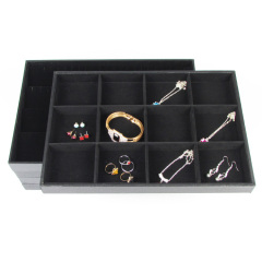 Jewelry Tray Bracelet Ring Necklace Earring Display Stand Rack Jewellery Holder