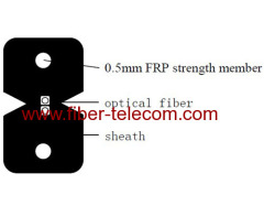 FTTH Drop Cable 2 fibers with FRP Strength member