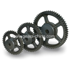 OEM sand casting cast iron excavator chain sprocket for transmission