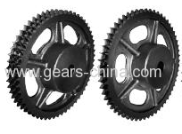 "ISO/R606 industrial pinion cast iron sprocket 3/4""x7/16"" for 12B-2"
