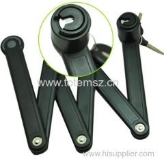Bike Folding Link Plate Lock With Keys