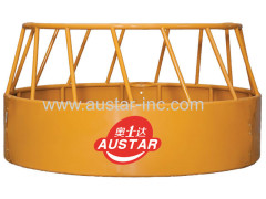 3 Piece Round Galvanized / Power Painted Cattle Horse Bull Hay Bale Feeder Ring Feeder For Sale