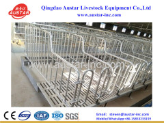 Austar adjustable hot dip galvanized pig sow farrowing crates pen China manufacturer