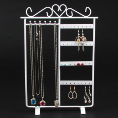 Metal Jewelry Display Necklace Earring Stand Rack Jewellery Holder For Panel