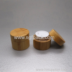 Bamboo cosmetic packaging glass jar