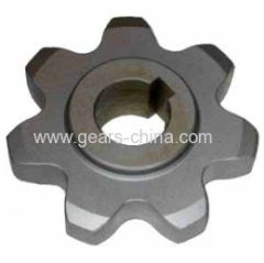 industrial double pitch roller chain boring sprocket 1045 steel