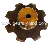 ASA140 ANSI standard 28A-2 DIN pitch 44.45 C45 22T double pitch sprocket