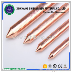 Copper plated earth rod of grounding electrode