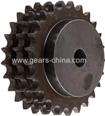 c45 steel hub DIN8187 standard triple row industrial sprocket