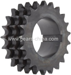ISO ANSI DIN Standard Simplex Double Triple Roller Chain Sprocket Price and Catalogue
